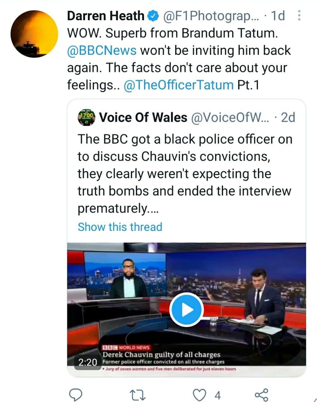 Daren Heath Voice Of Wales Tweet